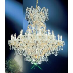 Classic Maria Theresa 31 Lt Chandelier Olde World Gold Crystalique - 8163OWGC