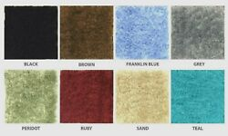 FRANKLIN BLUE CUT TO FIT WALL TO WALL BATHROOM CARPET RUGS SIZE = 5 X 6 D $54.95
