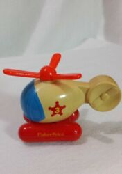 1992 FISHER PRICE SMALL HELICOPTER 061J3 Pontoon Spinning Rotor Sheriff Star#3 $14.00