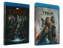 Marvel Movies: THOR 1 & 2 BLU-RAY  (Thor &  The Dark World)   Brand NEW!