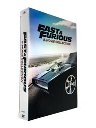 Fast and Furious: 8-Movie Collection (DVD 2017 9-Disc Box Set) NEW