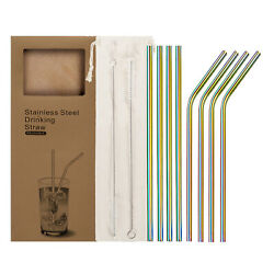 Reusable  Stainless Steel Metal drinking Straws- Long 8.5 Inch for 20oz