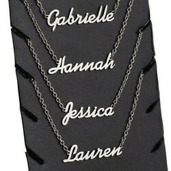 Personalized ANY NAME Necklace Nameplate Stainless Steel Custom Made Xmas Gift