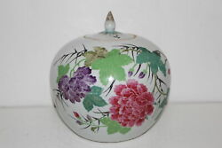 CERTIFIED ANTIQUE FAMILLE ROSE CHINESE HAND PAINTED PORCELAIN JAR WLID