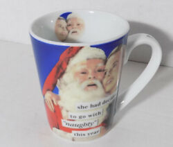 Anne Taintor Ceramic Mug Cup 'She Had Decided To Go With Naughty This Year'