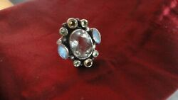VINTAGE NB NICKY BUTLER GORGEOUS WHITE SAPPHIRE RING SIZE 8 34