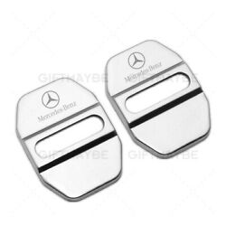 2X Stainless Steel Car Door Striker Cover Lock Buckle Cap AMG For Mercedes-Benz $8.99