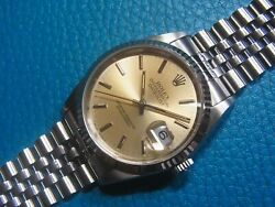 Rolex 16234 Oyster Datejust Inedx Silver Dial Automatic Watch Quick Set