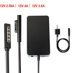 For Microsoft Surface 3 Pro 1 2 3 4 5 6  Book  RT Laptop Charger AC Adapter