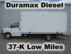 EXPRESS 4500 DURAMAX DIESEL 16FT BOX CUBE VAN DELIVERY HAUL TRUCK 37-K LOW MILES