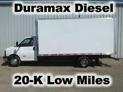 EXPRESS 4500 DURAMAX DIESEL 16FT BOX CUBE VAN DELIVERY HAUL TRUCK 20-K LOW MILES