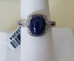 Lapis Lazuli Platinum Over 925 Sterling Silver Ring (Size 8) 3.50 CTS