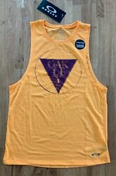 Oakley Contour Boy Training Tank Top in Sun Orange Light Heather Size Small NEW $15.00