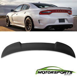 Fits 2015-2018 dodge Charger SRT8 Matte Black ABS Rear Trunk Spoiler 2016 2017 $61.98