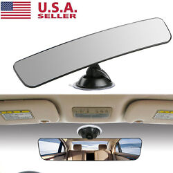 Universal Rear View Mirror Glass Suction Cup Stick On Interior Wide Car Truck US $9.25