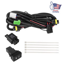 H11 H8 H9 Fog Light Wiring Harness Sockets Wire LED indicators Switch Relay Kit $16.99