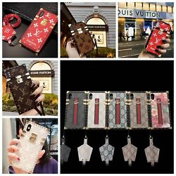 Luxury Plating Plaid PU Leather Strap Soft Case Cover For iPhone 11 Pro Max XR X