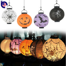 4X Round Paper Lantern LED Light Hanging Scary Lamp Halloween Party Decorations $8.99