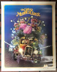 Vintage McDonald's Great Muppets Caper MOVIE POSTER 80's Nightlife Kermit Piggy