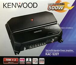 NEW Kenwood KAC-5207 Class-AB 2-Channel 2-Ohm Stable Car Stereo Amplifier