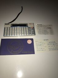 VINTAGE 80s SHARP IQ 3000 CALCULATOR Translator+Paperwork Japan Made Rare