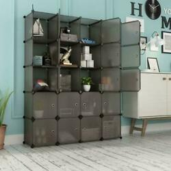Multi Cube Stackable Storage Organizer Shoes Clothes Shelving Rack Closet $23.99