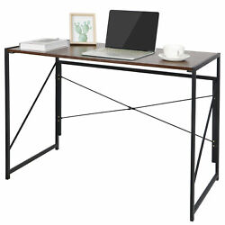Home Office Computer Desk Writing Modern Simple Study Industrial Style Folding $37.99