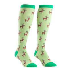 SOCK IT TO ME Women#x27;s Novelty Knee High Socks F0206 Reindeer Games $10.80