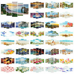 5pcsSet 5D DIY Diamond Painting Home Cross Crafts Stitch Wall Art Decor 95*45cm