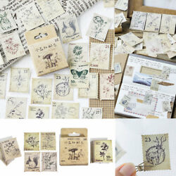 46pcs DIY Vintage Stamps Stickers Kawaii Stationery Scrapbooking Diary Stickers C $2.54