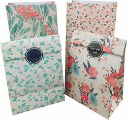 Lot of Floral Kraft Paper Bags for Jewelry Candy Party Favors Merchandising $19.90