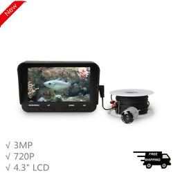 Underwater Camera Fish Finder Fishing Cam HD 3MP 720P 140° 4.3quot; 30M Cable X3 $94.69