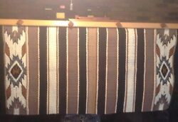 """Large Wall Art Decor Or Wool Rug Blanket 31""""x 66"""" Native Design Gently Used $200.00"""