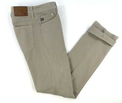 AG Adriano Goldschmied Mens Sz 32 x 34 Beige The Graduate Tailored Leg Pants GUC