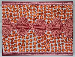 Painting By Famous Australian Aboriginal Artist KIM BUTLER 47