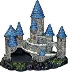 Blue Ribbon Pet Products-Exotic Environments Blue Spire Castle- Bluegray