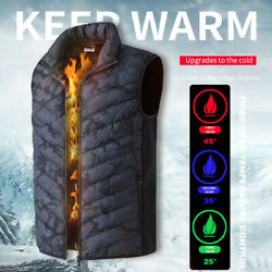 Winter USB Heated Vest Men Women Cloth Thermal Warm Jacket Electric Body Warmer