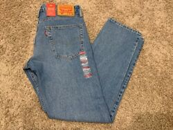 MEN#x27;S LEVI#x27;S 502 REGULAR TAPER FIT STRETCH JEAN BLUE MANY SIZES NEW 29507 0247 $24.29