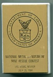 Las Vegas NV National Metal amp; Non Metal Mine Rescue Contest 1984 Paperweight $8.99