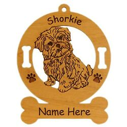 Shorkie Sitting Dog Breed Ornament Personalized With Your Dogs Name 3972 $12.95