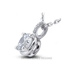 2.64 CT F-SI2 Round Cut Earth Mined Certified Diamonds 18k Gold Classic Pendant