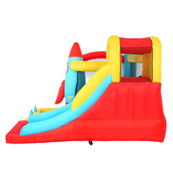 Rocket Inflatable Bouncer Castle House Slide 840D Oxford Cloth Outdoor Toys PC