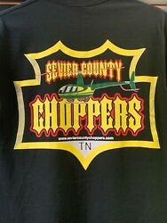 Sevier County Choppers Helicopter Adult T Shirt Small Original R44 Logo $15.00
