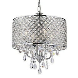 Modern Light Crystal Chrome Pendant Hanging Lamp Chandelier Ceiling Fixture Home $59.99