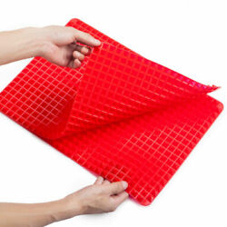 Pyramid Silicone Oven Baking Tray Sheets Mat Pan Non stick Fat Kitchen Cooking $7.89