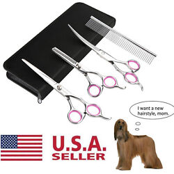 Pet Grooming Scissors Dog Cat Professional Curved Thinning Shear Hair Cutting US $14.95