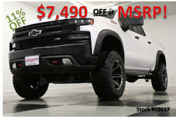 2020 Chevrolet Silverado 1500 MSRP$66290 4X4 Lifted Trail Boss Leather White Cre New 6 Inch Lift 22 In XF Heated  Seats Camera Nerf Bars White 18 19 2019 20 Cab