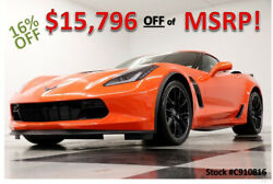 2019 Chevrolet Corvette MSRP$100270 Z06 GPS Leather Sebring Orange Coupe New Navigation Supercharged Heated Cooled Black Seats Auto Custom Rim 18 19 2018