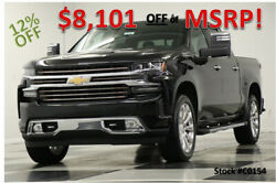 2020 Chevrolet Silverado 1500 MSRP$66600 4X4 High Country Sunroof GPS Black Crew New Navigation Heated Cooled Leather 6.2L Camera 18 19 2019 20 Cab 22 In Rims