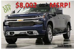 2020 Chevrolet Silverado 1500 MSRP$65765 4X4 High Country Sunroof Blue Crew 4WD New Navigation GPS Heated Cooled Leather Metallic Camera 6.2 18 19 2019 20 Cab